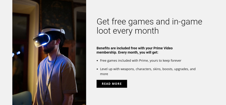 Get free games Website Mockup