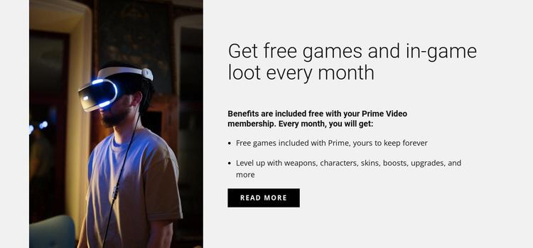 Get free games Website Template