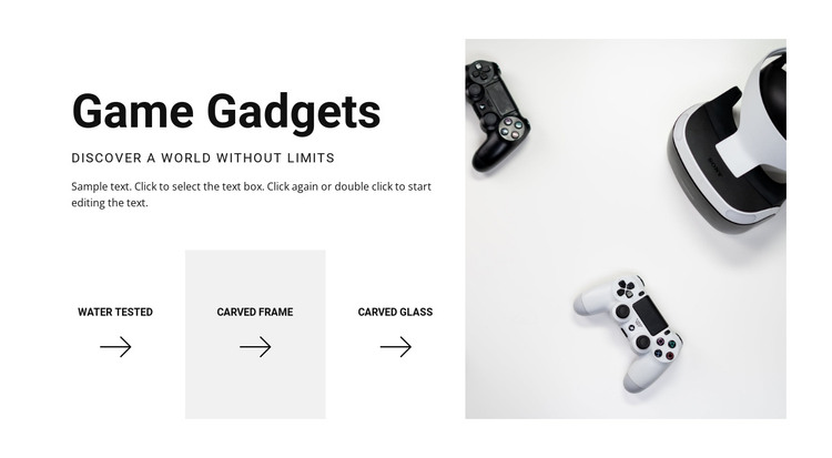 New game gadgets HTML Template