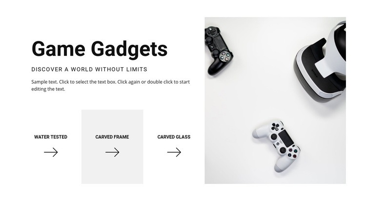 New game gadgets Web Page Design