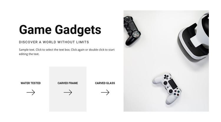 New game gadgets Website Builder Software