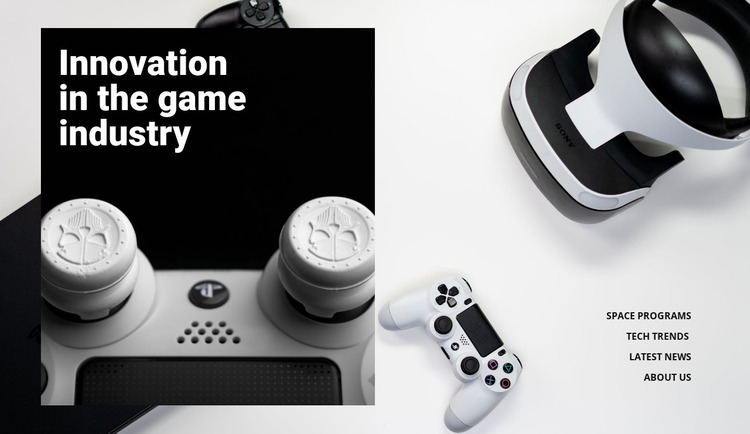Innovation in games industry Website Mockup