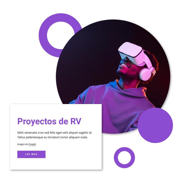 Proyecciones de realidad virtual Plantilla de sitio web