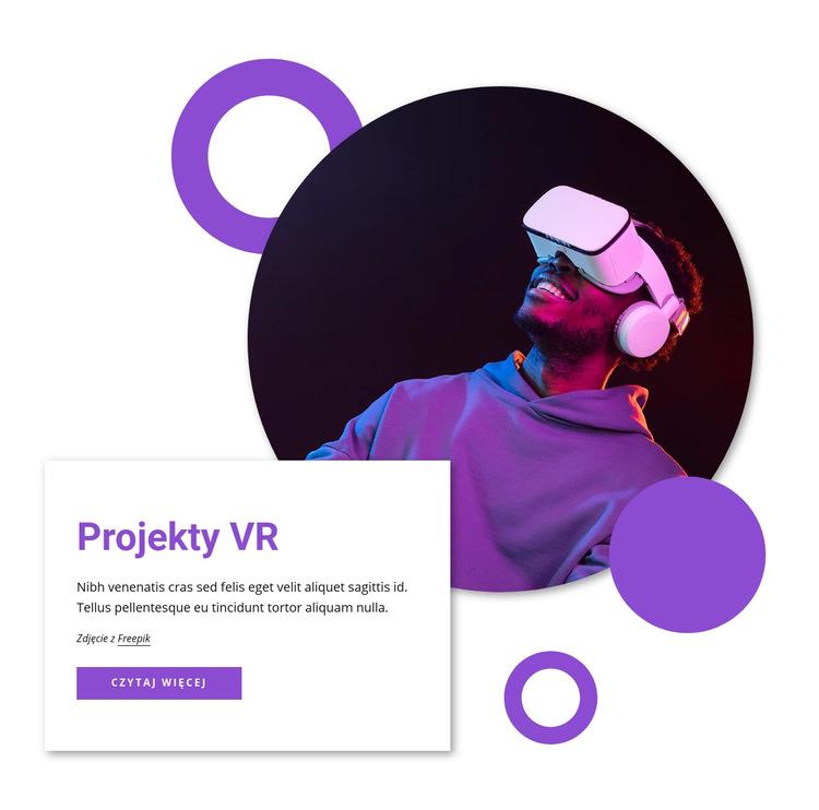 Projekcje VR Szablon witryny sieci Web