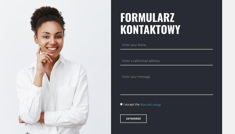 Formularz kontaktowy ze zdjęciem Szablon witryny sieci Web