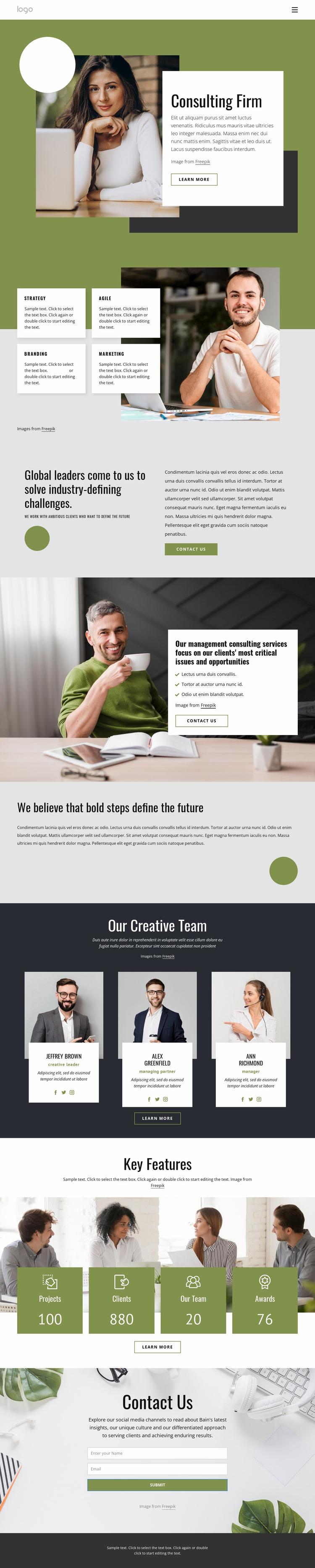Start innovating Website Mockup