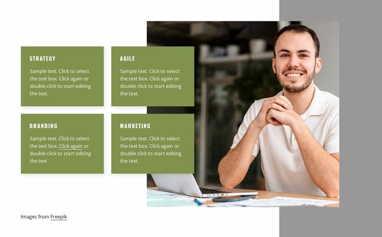 We advise leaders on strategy Website Template