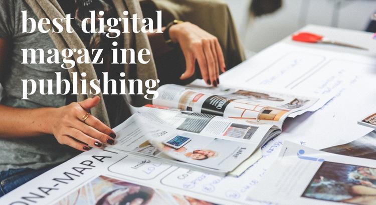 Best digital magazine Web Page Design