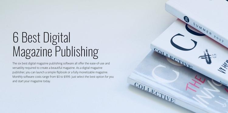 Digital magazine publishing Web Page Designer