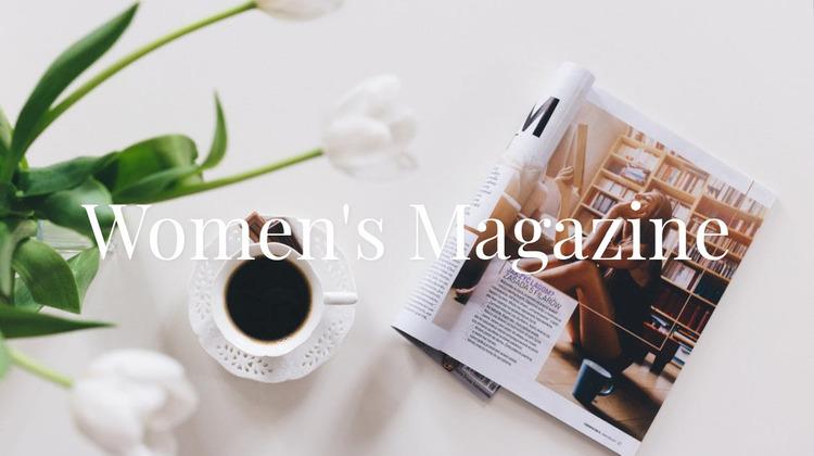 Women magazine Website Mockup