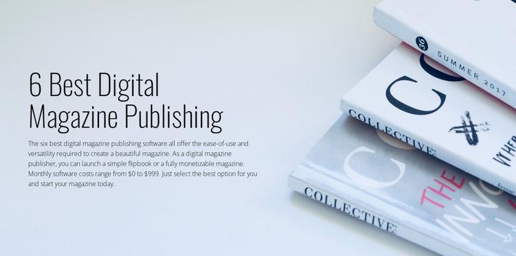 Digital magazine publishing Website Template