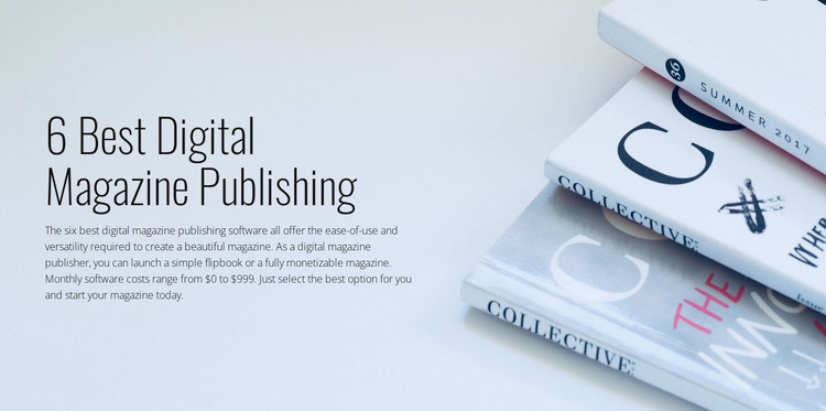Digital magazine publishing WordPress Theme