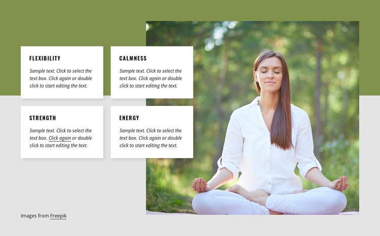 Yoga benefits HTML Template