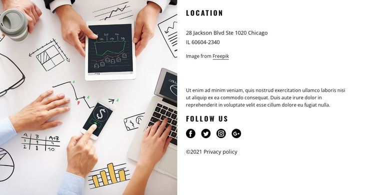 Connect with us today HTML Template