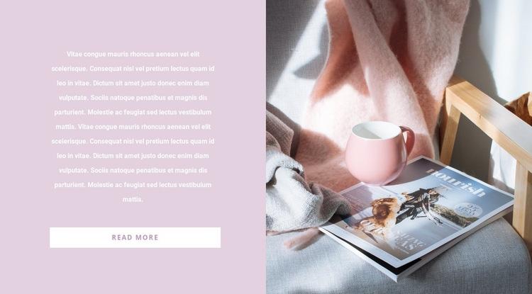 Interior article Web Page Design