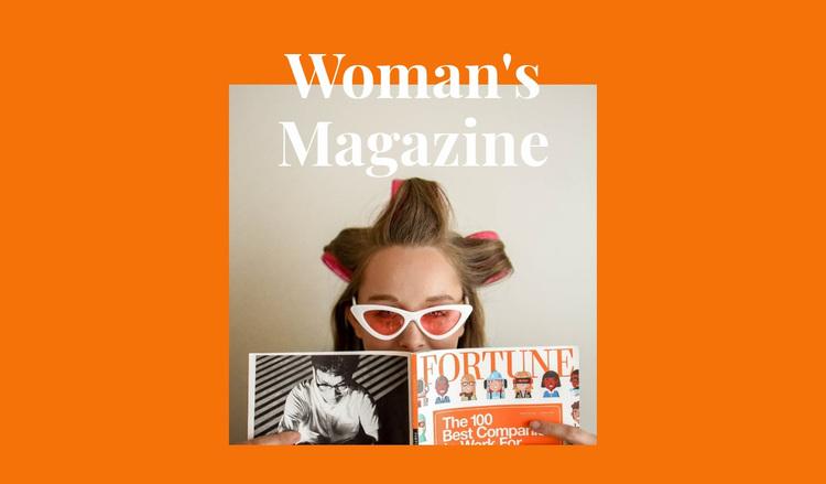Woman's time Website Design