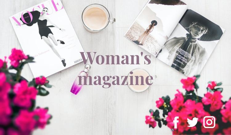 Fashion magazine Website Mockup