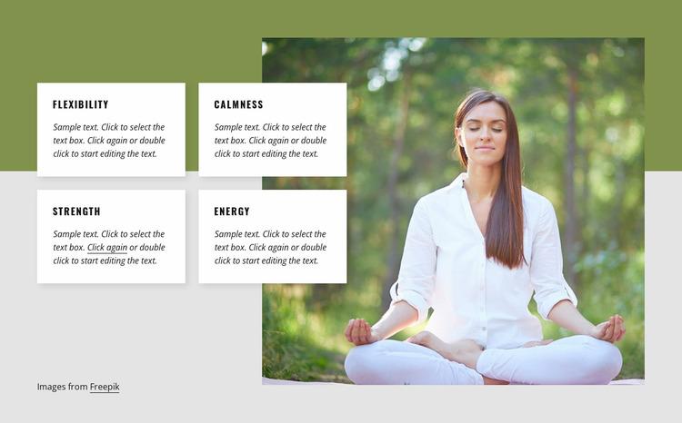 Yoga benefits Website Mockup