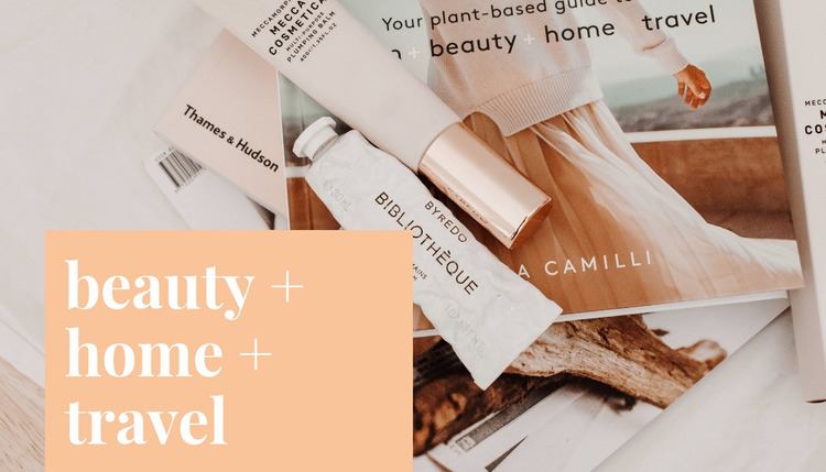 Beauty home and travel Website Mockup