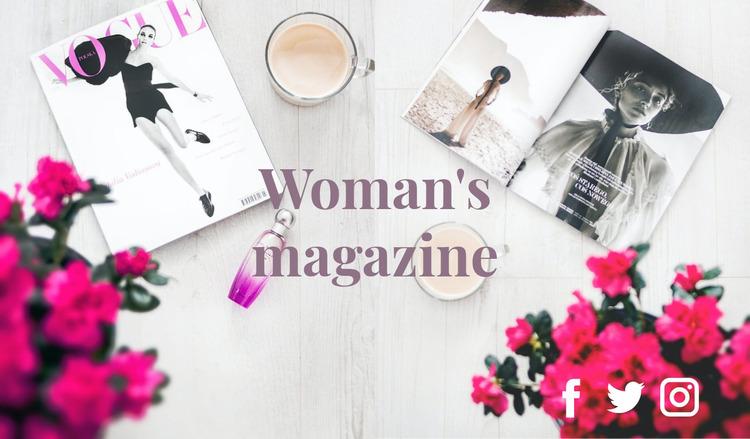 Fashion magazine WordPress Website Builder