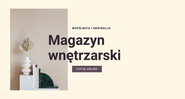 Magazyn wnętrzarski Szablon Joomla