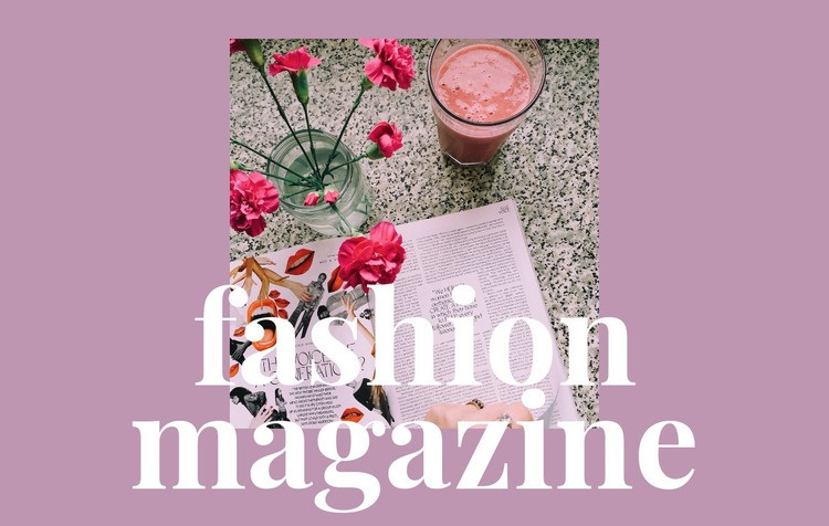 Articles about fashion and art Web Page Design