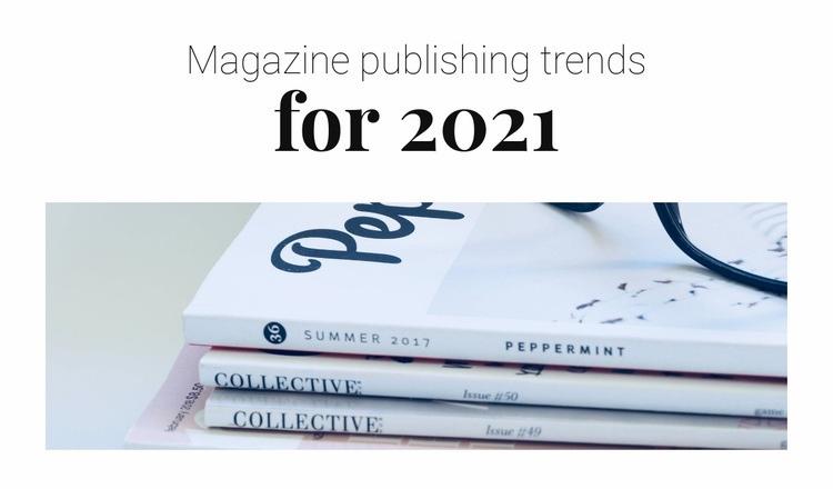 Magazine publishing trends Web Page Designer