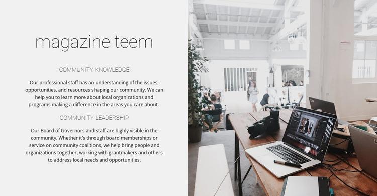Magazine team Website Design