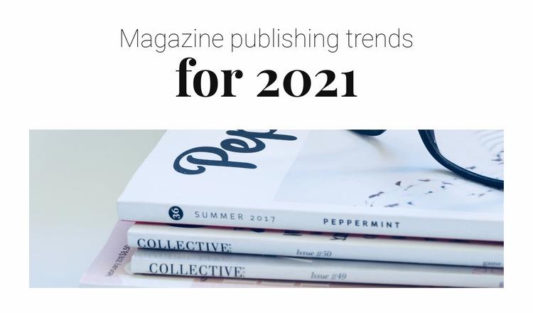 Magazine publishing trends Website Mockup