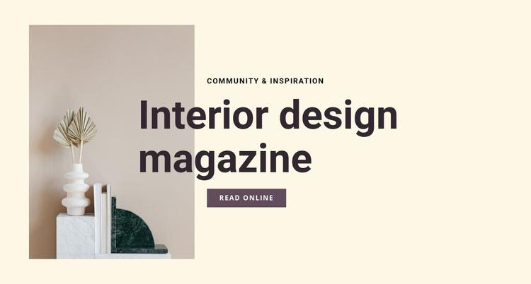 Interior design magazine Website Template