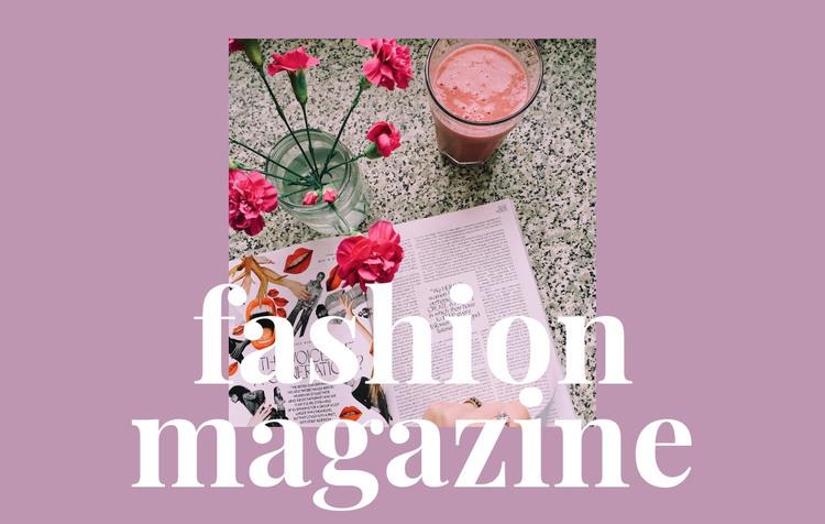 Articles about fashion and art WordPress Theme