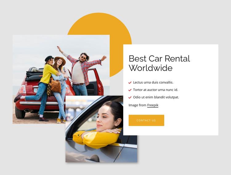 Best car rental worldwide HTML Template