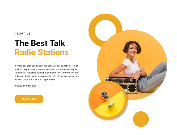 Best talk radio stations One Page Template