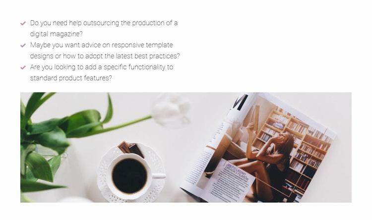 Working in a fashion magazine Website Design