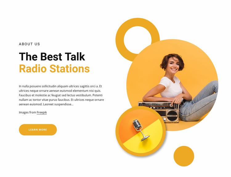 Best talk radio stations Website Mockup