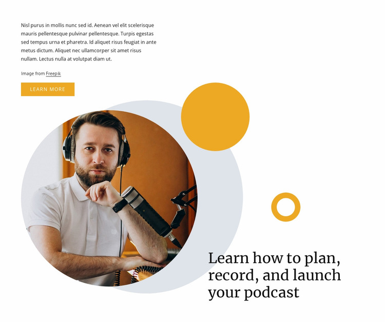 Record your podcast Website Mockup
