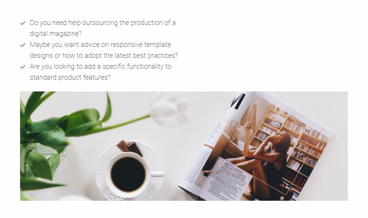 Working in a fashion magazine Website Template