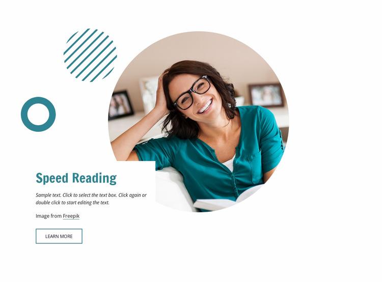 Speed reading Website Mockup