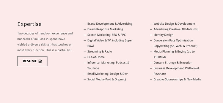 Training, study, or practice Website Mockup