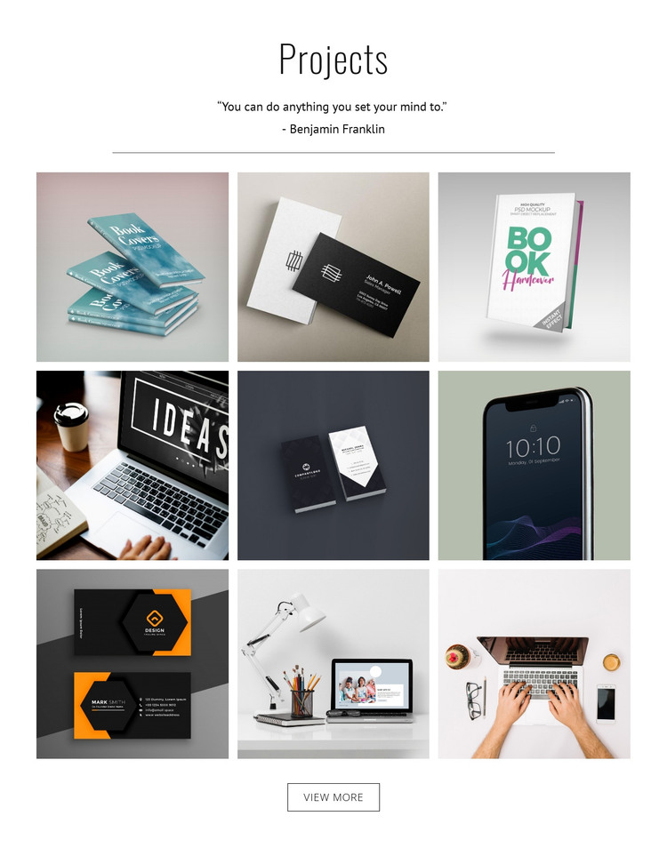 My projects HTML Template