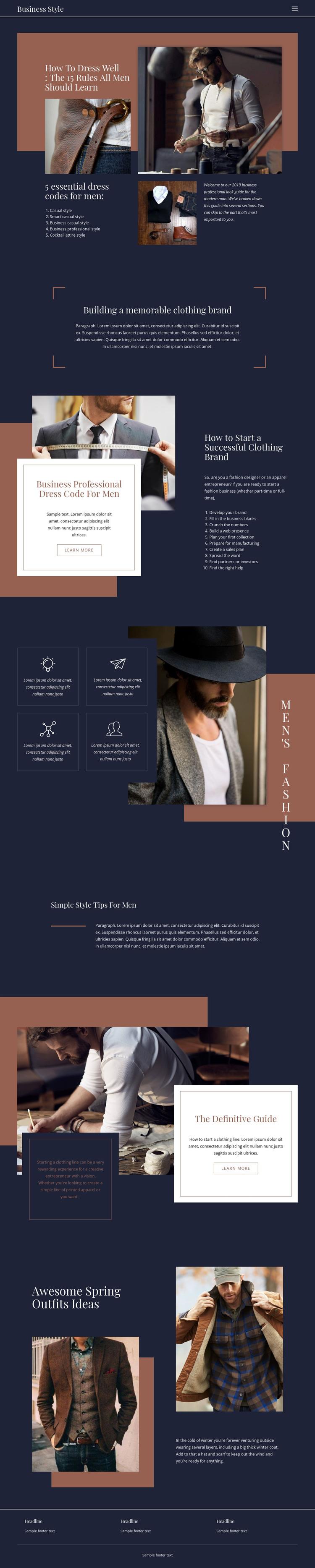 Winning rules of fashion HTML Template