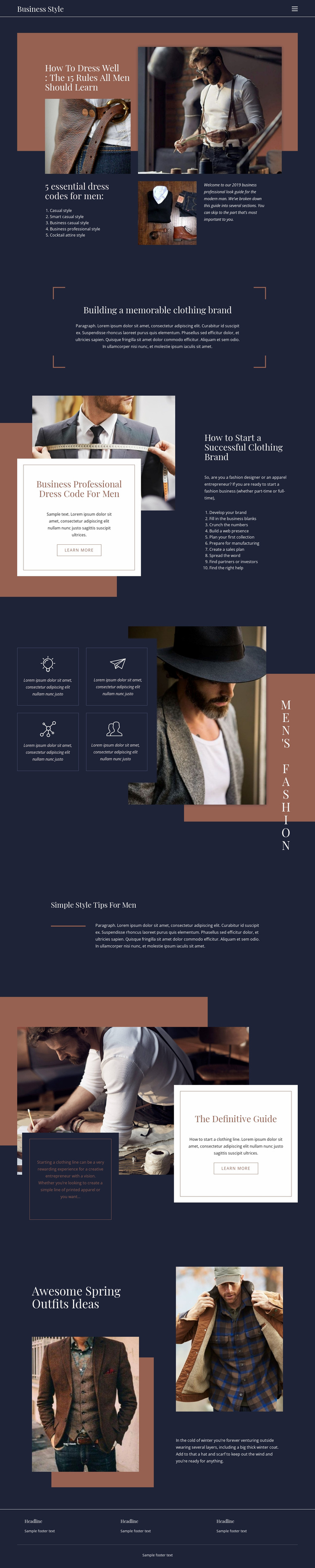 Winning rules of fashion Website Template