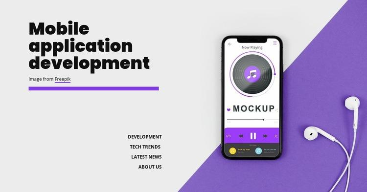 Mobole application development Html Code Example