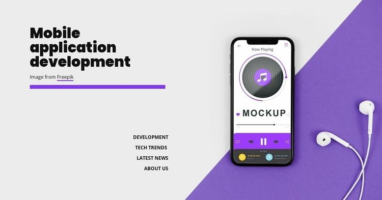 Mobole application development Website Template