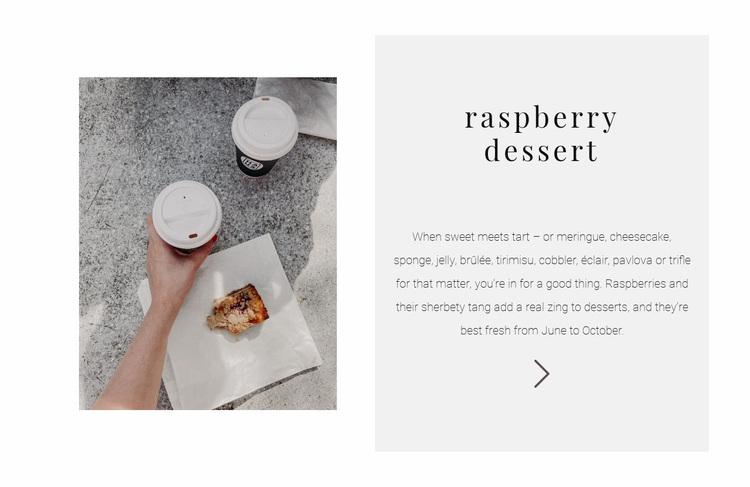 New raspberry dessert Website Design