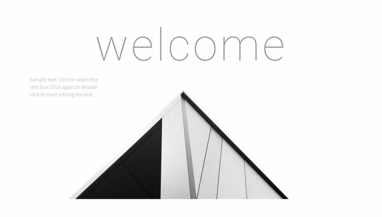 Welcome to the studio Website Mockup