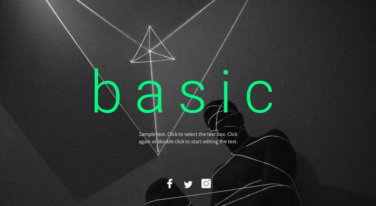Basic design Website Mockup