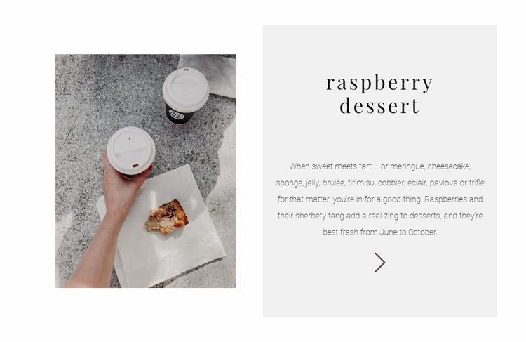 New raspberry dessert Website Template