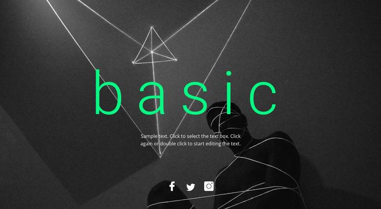 Basic design Website Template