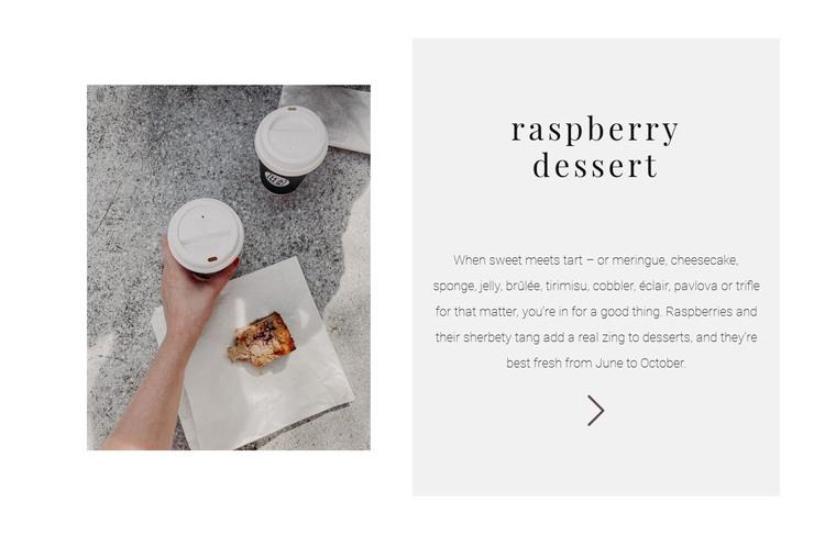 New raspberry dessert WordPress Theme